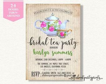 Bridal/Baby Shower Invitation -PDF printable- 24 hours turnaround-B020