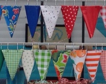 12' Custom Oilcloth Pennant Banner or Two 6' Oilcloth Pennant Banners*