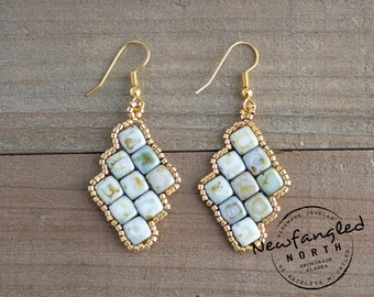 Staggered Bead Earrings