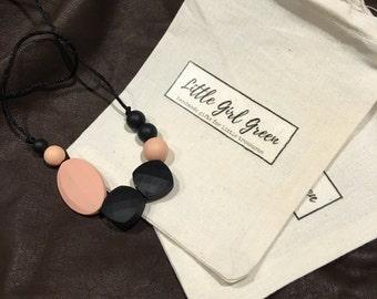 Silicone teething safe necklace EMMA