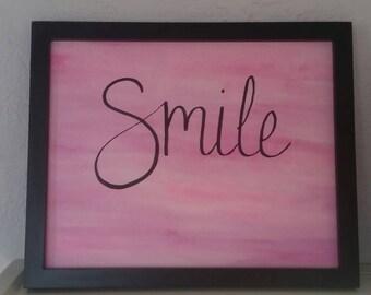 "Positive ""Smile"" Print, Positive Affirmation Print"