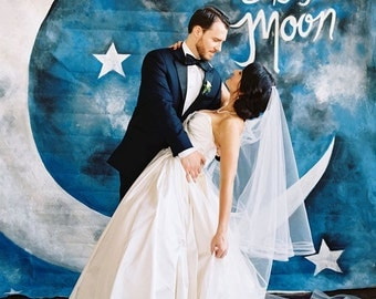 Wedding Backdrop or Photobooth Backdrop - Fly Me to the Moon