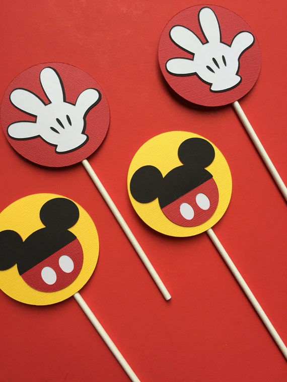 Mickey Cupcake Toppers Birthday Cupcake Toppers Mickey Mouse
