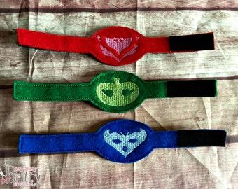 PJ Masks inspired bracelet set