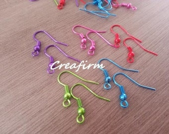 80 earrings hooks Multicolores