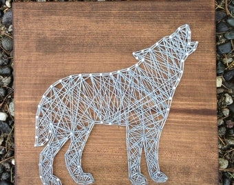 MADE TO ORDER- Wolf String Art