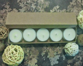 BellaFlor Essentials, Natural Soy Wax Tealights, Scented, Handmade, Cotton Wick
