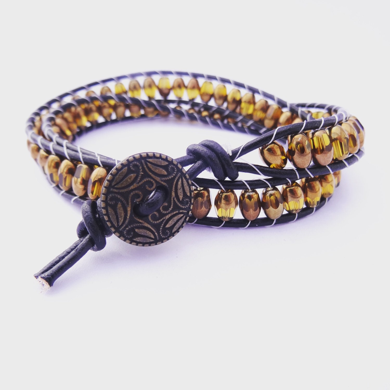beaded wrap bracelet leather wrap bracelet by