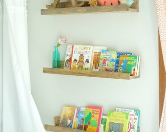 2 ft. Floating Shelves or Picture Ledges, Rustic Home Decor, Rustic Floating Shelf, Rustic Picture Ledge, Rustic Photo Display, Gallery Wall