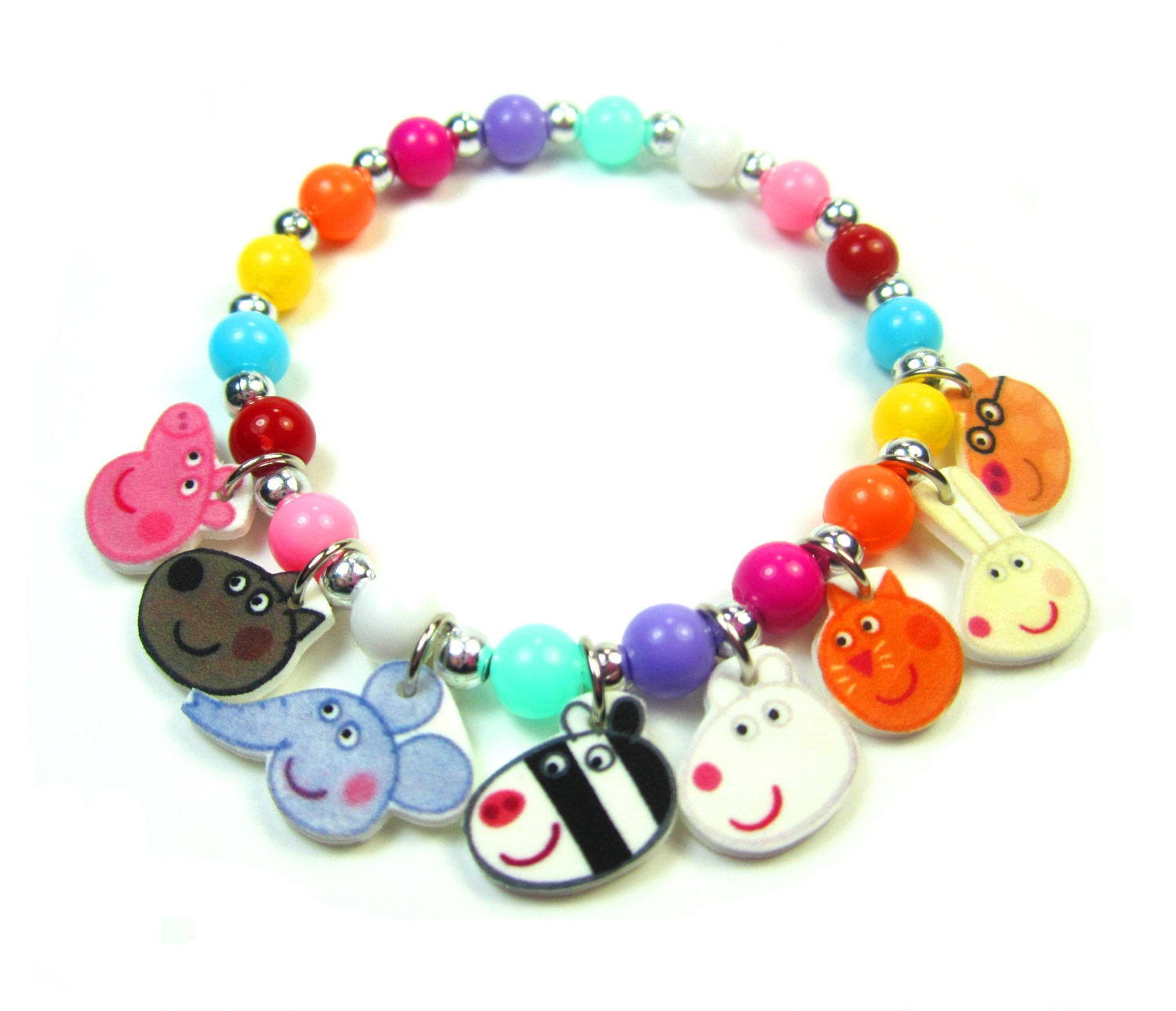 Pig Charm Bracelet: Peppa Pig Charm Bracelet Peppa Pig Jewelry Peppa By