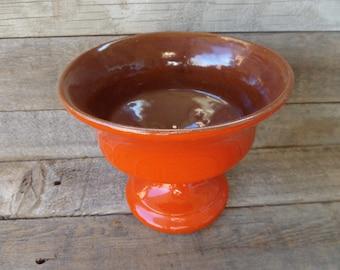 Vintage Pottery, Vintage Frankoma Pottery, Frankoma Pedestal Bowl, Frankoma Urn, Made in Oklahoma, Rustic Decor, Country Decor, Farmhouse