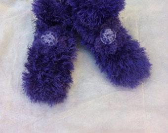 woman slippers / slippers women / slippers purple / purple slippers / knitted slippers
