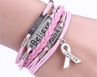 SALE - Cancer Awareness Infinity Bracelet