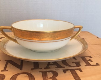 Rosenthal Art Deco Soup Boullion and Saucer