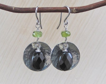 Fun Black Onyx and Peridot earrings!