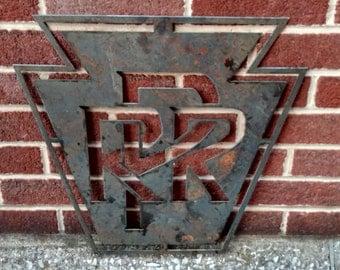 "Pennsylvania Railroad Logo - 15"" - PRR - Bare Steel"