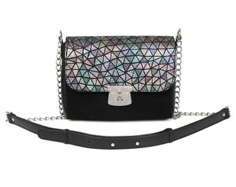 Leather Cross body Bag, Black Leather Shoulder Bag, Women's Leather Crossbody Bag, Leather bag KF-631