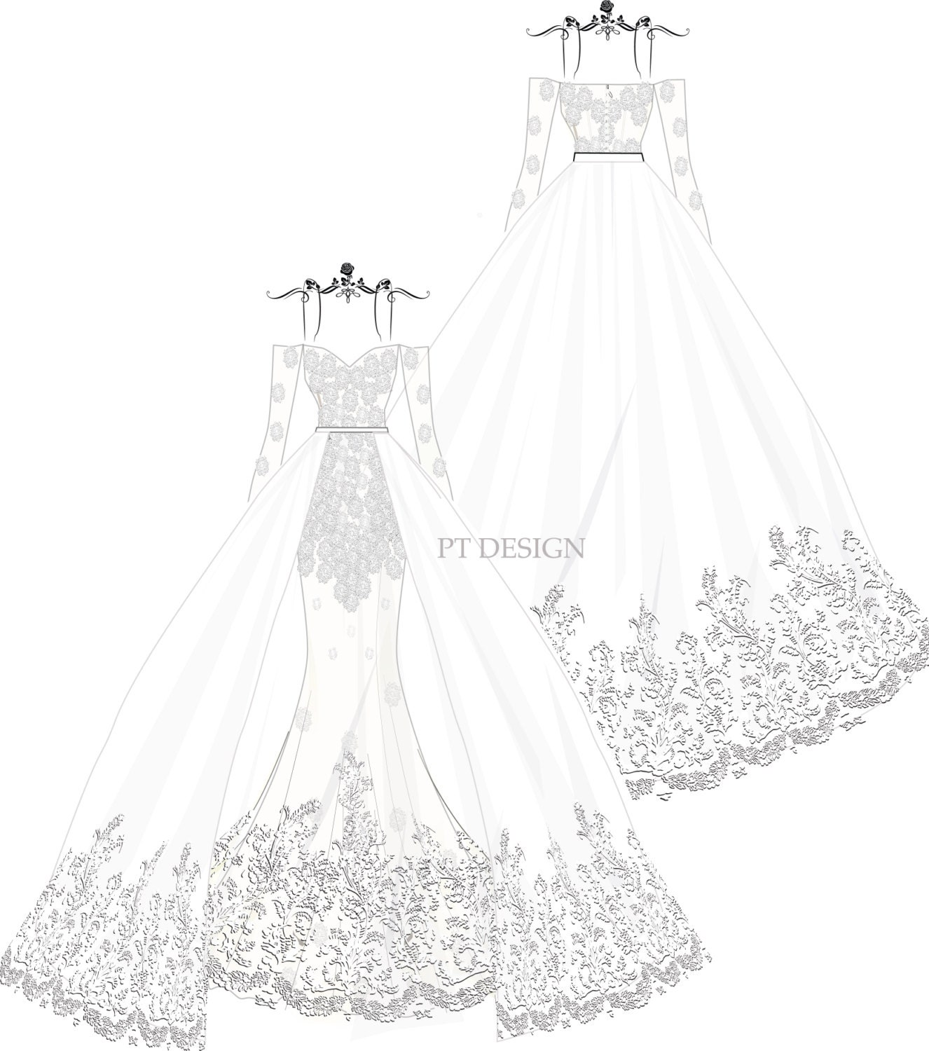 ball gown dress drawings - photo #31