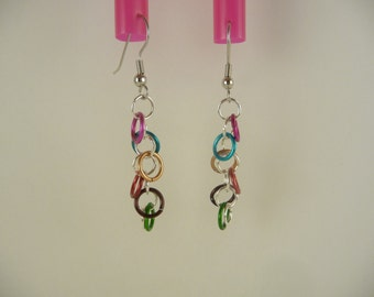 SALE rainbow earrings