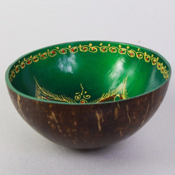 Classic Oriental Decorative Multipurpose Handmade Coconut Shell Bowl (PC 11)
