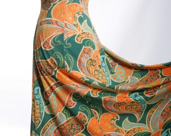 FREE US SHIPPING Vintage Floral Maxi Dress
