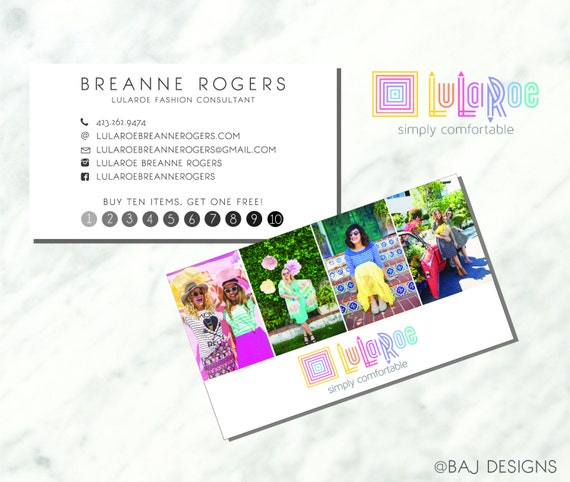 Items similar to Lularoe Business Card Design | Colorful Design ...