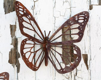Monarch Butterfly Wall Art, FREE SHIPPING! rustic butterfly, monarch wall art, butterfly decor, butterfly garden, monarch butterfly, flying
