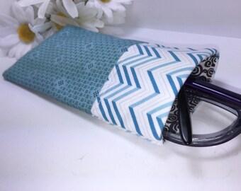 Blue Glasses Case, Minimalist Eyeglasses Case, Eyeglasses Pouch, Slip Style, Sunglasses Pouch,
