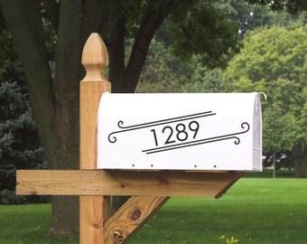 Modern Mailbox Decal / Address Decal / Mailbox Sticker / Custom Decal  / Style 3