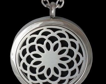 Essential Oil Diffuser Necklace- Lotus Flower