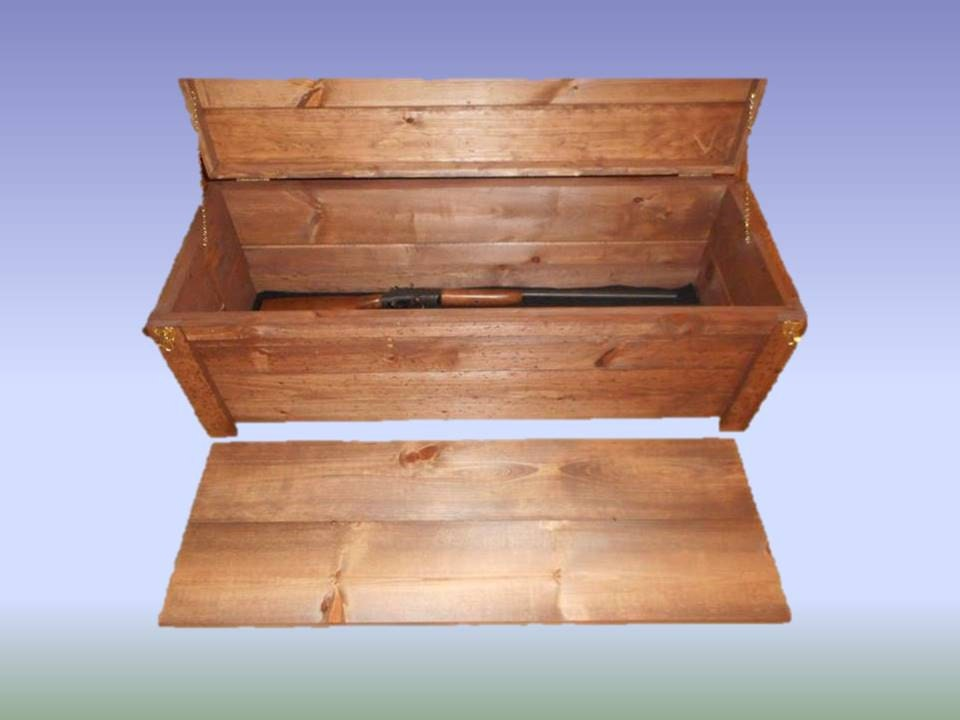 Wooden Hope Chest Coffee Table Gun Case Cabinet Hidden Compartment Storage  Chest - Wooden Hope Chest - Hidden Compartment Coffee Table IDI Design