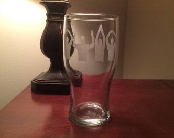 O-H-I-O Themed Imperial Pint Glass - Ohio State - Columbus - Ohio State Beer Glass - Beer Glass - OHIO - The Ohio State University