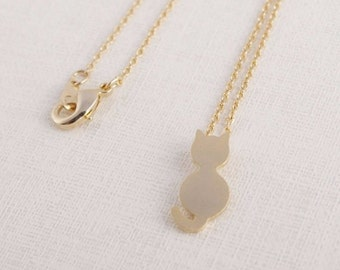 Cat / Pet / Necklace / Pendant / Silver / Gold / Hipster / Trendy / Everyday / Simple / Dainty / Minimalist / Petite