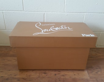 XL Shoe Storage Box, Christian Louboutin Giant Shoe Box, with lining (fits 6-8no pairs of shoes), gift for her, handmade, wedding present