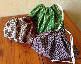 Flora Drawstring Pouches/Gift Bags Large