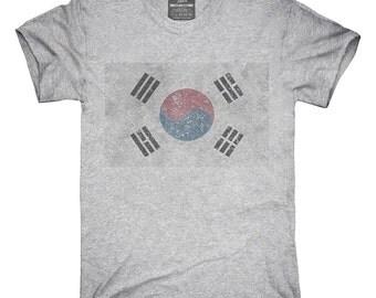 Retro Vintage South Korea Flag T-Shirt, Hoodie, Tank Top, Gifts