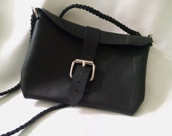 Black Leather Mini-Purse