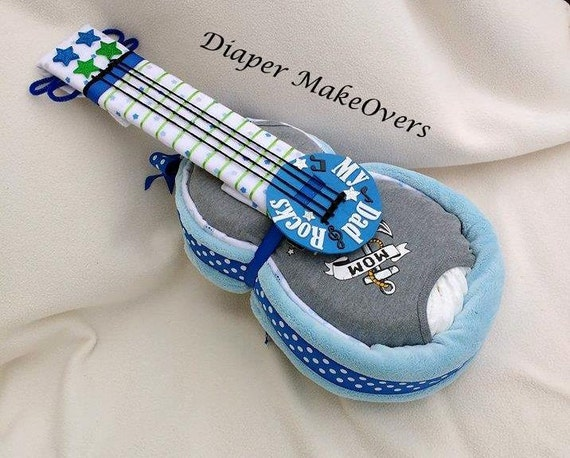 Step By Step Guitar Diaper Cake