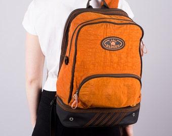 Vintage Badger backpack - Orange Backpack - Backpack by Badger - 90 backpack - unisex backpack - hipster - casual - daily backpack