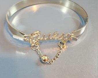 Silvertoned Guess Bracelet