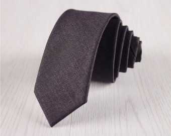 black gray wool ties.wedding neckties.mens wool ties.solid color wool tie.wedding neckties+nt212