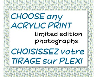 Any acrylic limited edition photograph print and gift certificate