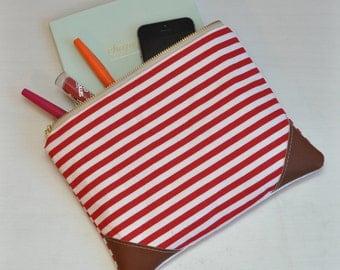 Red & White Stripe Clutch