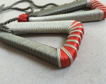 50s Vintage tassel tassel sling tassel curtains curtain/red grey