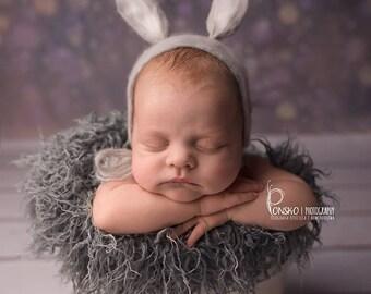 Hand felted Hat, Felted Bunny Hat, Newborn Hat,Newborn Easter Hat, Bunny Bonnet, Felted Hat, Photo Prop, Newborn Photography Prop