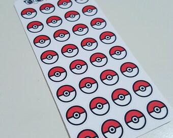 Go Poke Ball stickers