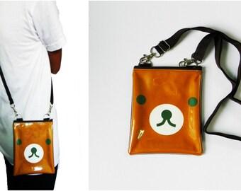 Rilakkuma Bear Bag Clear Transparent Pvc Vinyl Plastic Pouch Iphone Gift for Kids Boy Girls Crossbody Shoulder Messenger Satchel Sling Purse