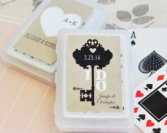 Personalized Playing Cards- Wedding Favor Cards Rustic Wedding Ideas Rustic Wedding Favors set of 24 (EB2033WV)