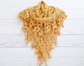 Yellow Shawl, Lace shawl, Fashion Scarf, Valentines Day Gift Ideas, Many color variations