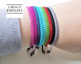 Laraco Jewellery - Square Knot Macrame Friendship Navy Cord Bracelet